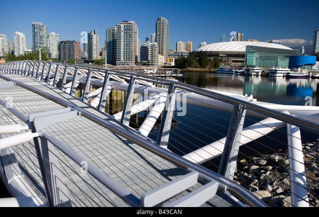 BC Place Stadium in Vancouver view from bridge, British Columbia, Canada. - Stock Image