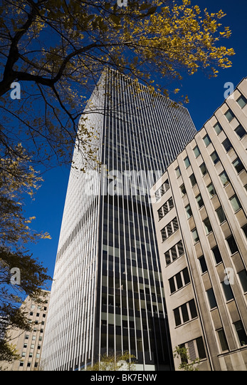 Office buildings in downtown montreal - Stock Image