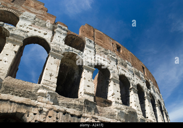 Rome, Italy. The Colosseum begun by Emperor Vespasian in 72 AD. - Stock Image
