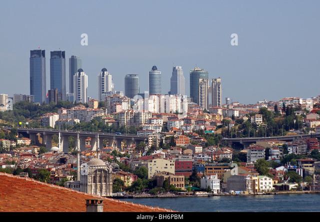 Business district Levent Istanbul Turkey - Stock-Bilder