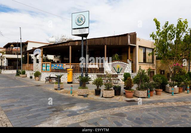 Pervolia street scene, Cyprus. - Stock Image