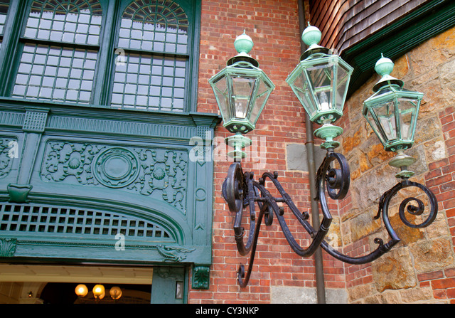 Rhode Island Newport Bellevue Avenue International Tennis Hall of Fame & and Museum Newport Casino lamppost - Stock Image