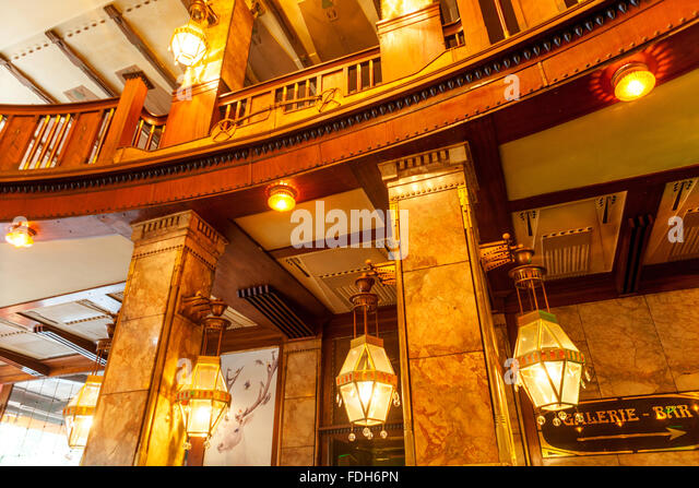 Art nouveau interior grand hotel stock photos art for Interieur art nouveau