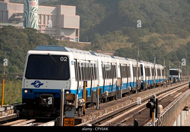 Taiwan, Taipei, subway (MRT) - Stock Image