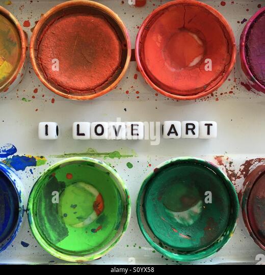 I love art - Stock Image