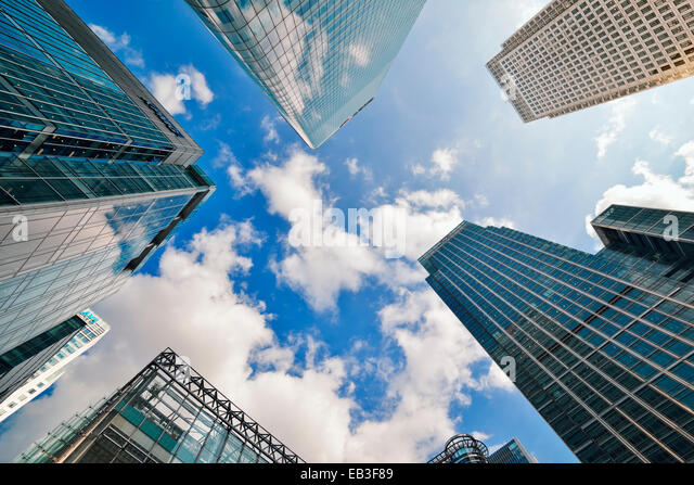 Canary Wharf, Low Angle. London, England, UK. - Stock Image