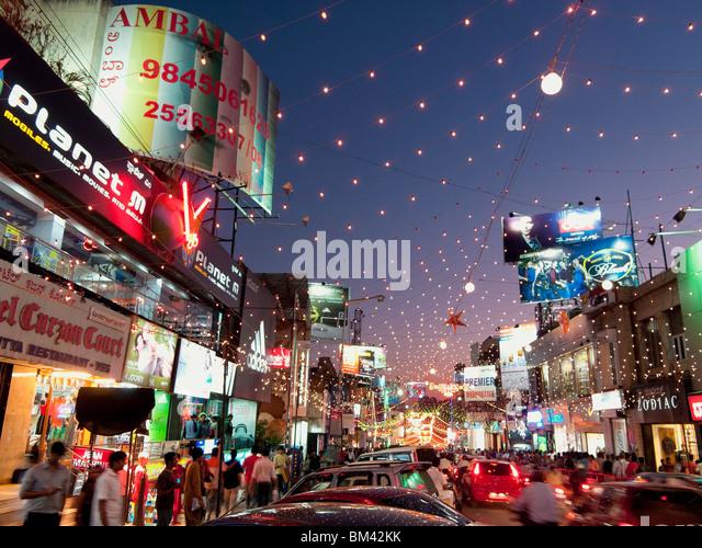 Brigade Road in Bangalore India - Stock Image