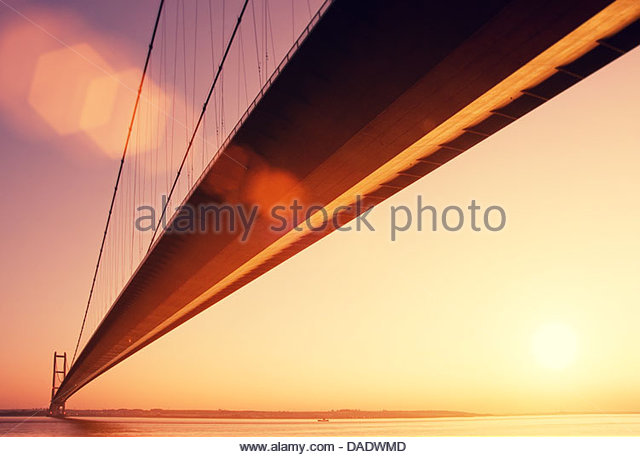 golden hour humber bridge - Stock-Bilder