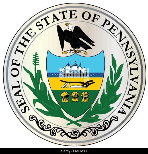 Great Seal of Pennsylvania - Stock Image