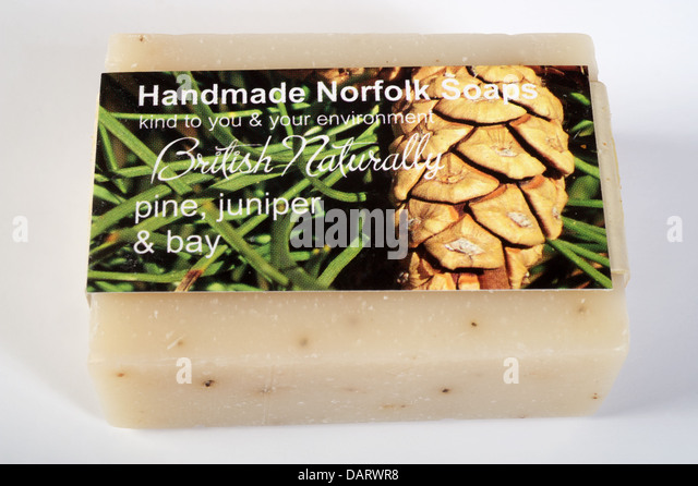 Environmentally friendly handmade Norfolk soap - Stock Image