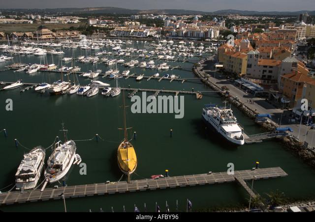 Portugal Algarve Vilamoura marina aerial - Stock Image
