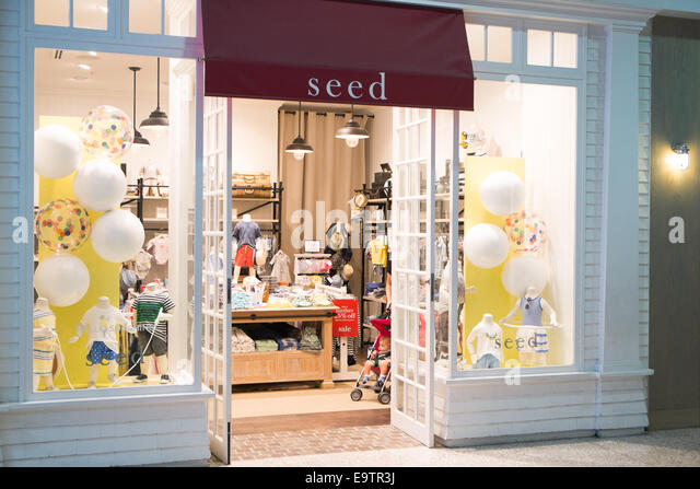 Seed, a childrens clothing store in kingsford smith sydney airport,australia - Stock Image
