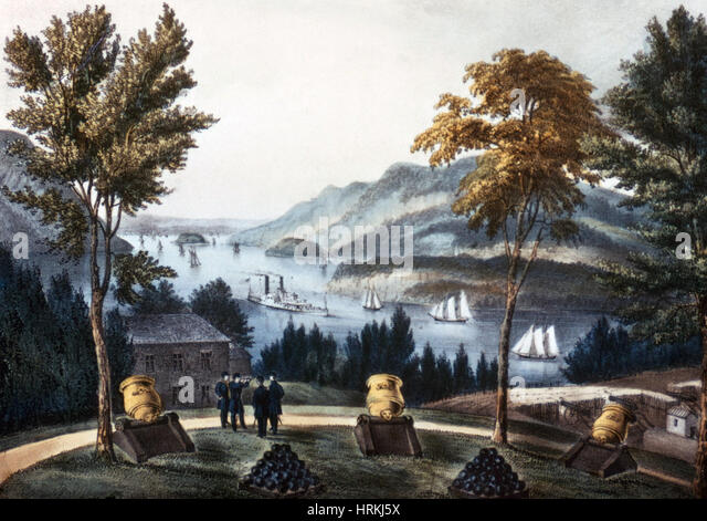 The Hudson from West Point - Stock Image