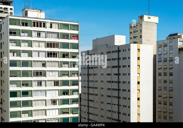 High rise apartment blocks in Sao Paulo, Brasil - Stock Image