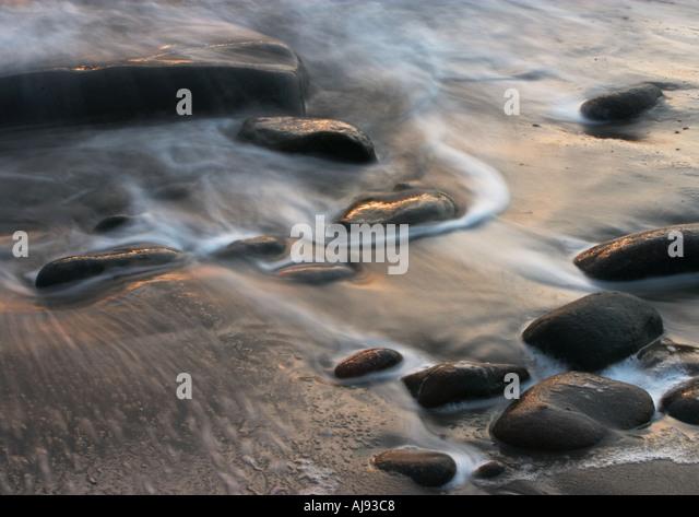 Shoreline sands of sound Lerwick Shetland - Stock-Bilder