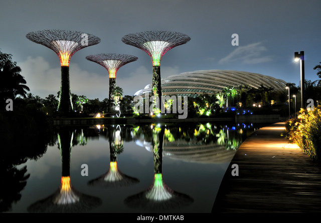 Flower Dome at Garden by the bay, Singapore - Stock Image