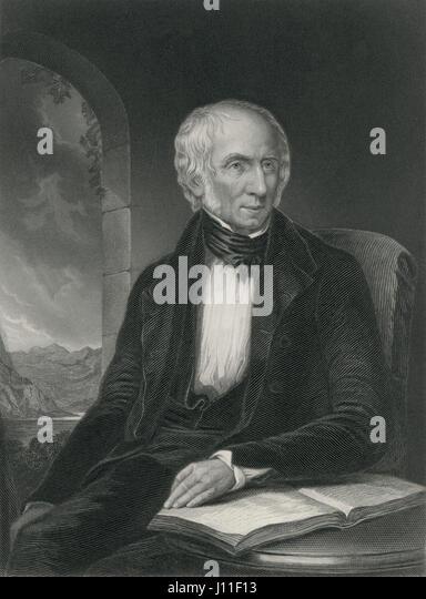 William Wordsworth (1770-1850), English Poet, Portrait, Engraving - Stock-Bilder