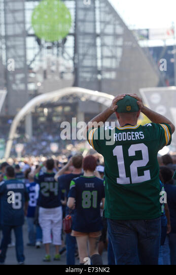 Seattle, Washington, USA. 4th September, 2014. NFL Kickoff 2014 Activities - Seattle Seahawks vs Green Bay Packers - Stock Image