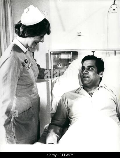 May 05, 1980 - First Picture of Wounded Iranian Charge affairs: The Iranian Charge de Affairs Dr. Gholam-Ali Afrouz - Stock Image