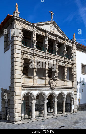 The Misericordia in Praca da Republica in the city of Viana do Castelo in northern Portugal. - Stock Image