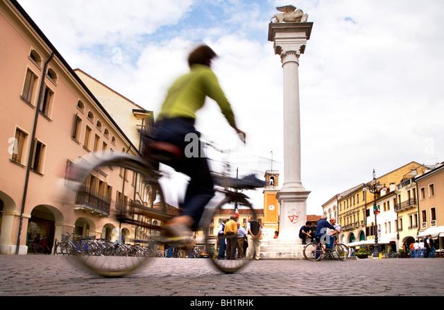 Piazza Vittorio Emanuele, Rovigo, Veneto, Italy - Stock Image