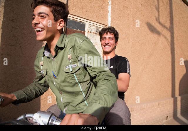 Portrait of Iranian man, Iran - Stock Image