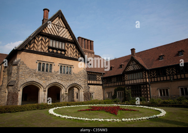 The Schloss Cecilienhof, Potsdam. - Stock Image