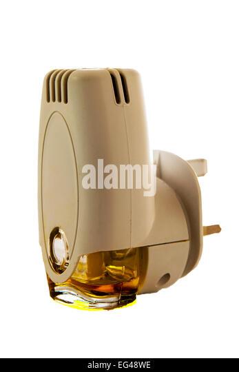 Glade plug-in air freshener fragrance fragrant fresh smell infuser bottle cut out white background - Stock Image
