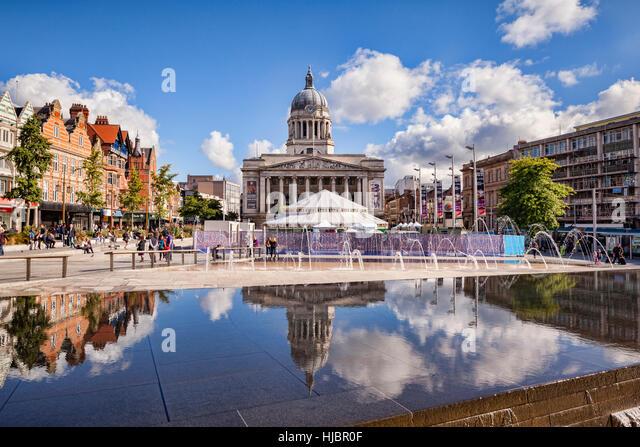 Market Square, Nottingham, England, UK - Stock Image