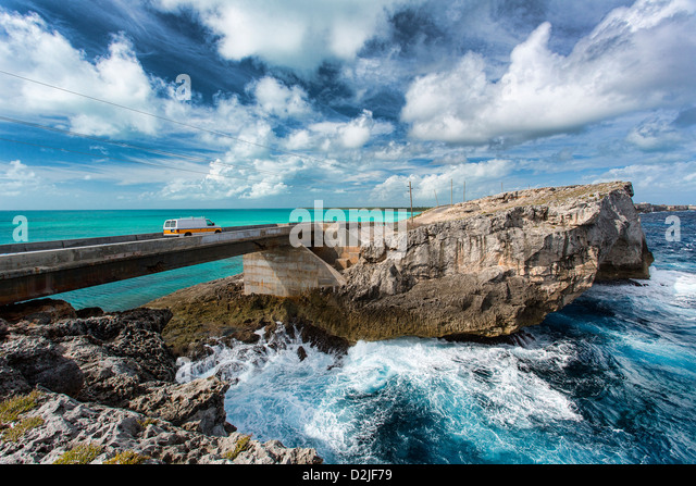 Bahamas, Eleuthera Island ,The Glass Window Bridge - Stock Image