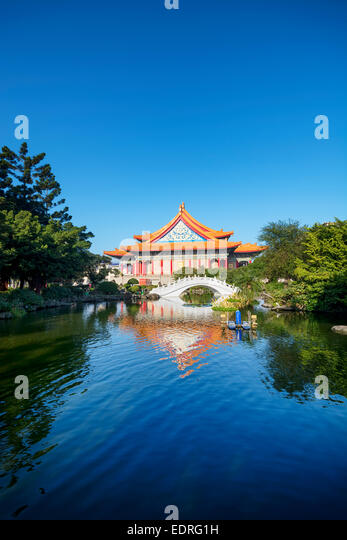 National Concert Hall at Chiang Kai‑shek Memorial Hall Square in Taiwan - Stock Image