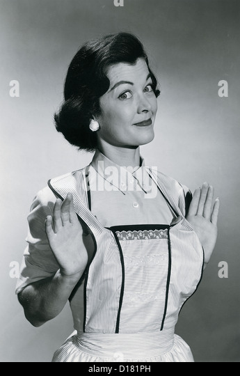 House wife, vintage - Stock Image