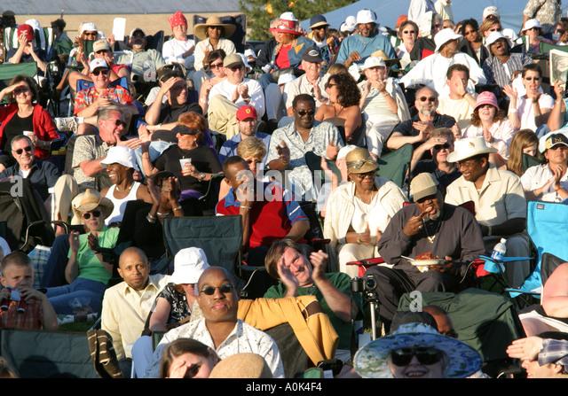 Toledo Ohio International Park Art Tatum Jazz Heritage Festival ethnic Black male female - Stock Image