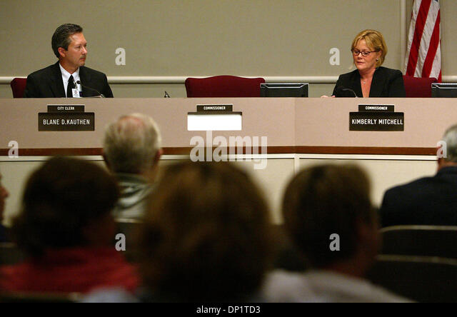 May 08, 2006; West Palm Beach, FL, USA; On Monday afternoon the absence of Ray Liberti at a commission meeting left - Stock Image