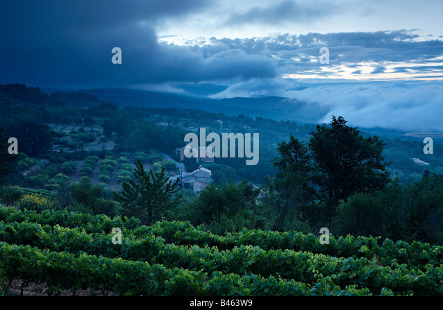 Notre Dame du Salut Chapellle near Murs at dawn, the Vaucluse, Provence, France - Stock Image