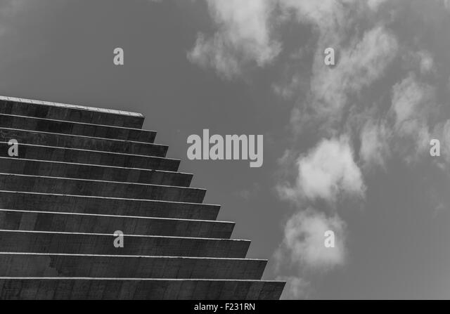 Concrete and Sky Perspective - Stock Image