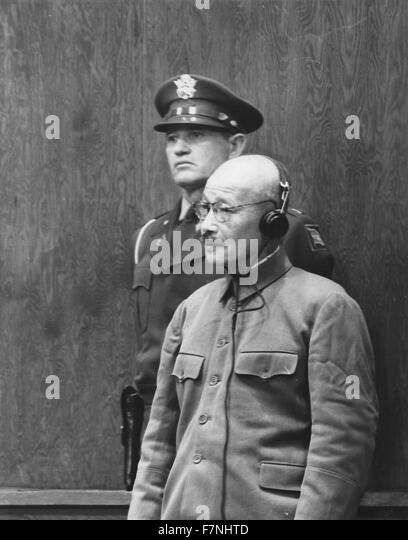 Photograph of Prime Minister Hideki Tojo of Japan and General of the Imperial Japanese Army (1884-1948). Dated 1941 - Stock Image