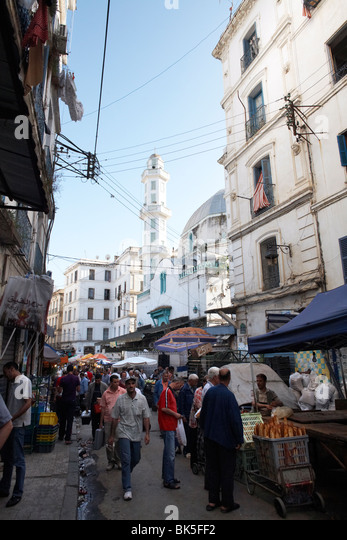 Market stalls in the Casbah, Algiers, Algeria, North Africa, Africa - Stock Image