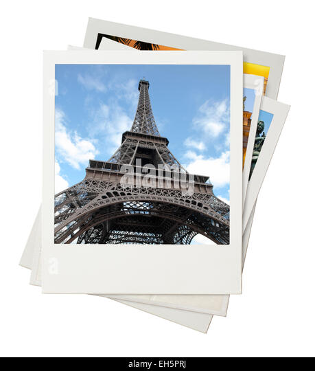 Travel photo collage isolated on white background - Stock-Bilder