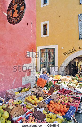 Market fruit stall - Stock Image