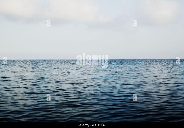 Open Sea And Sky Near Capri Italy - Stock Image