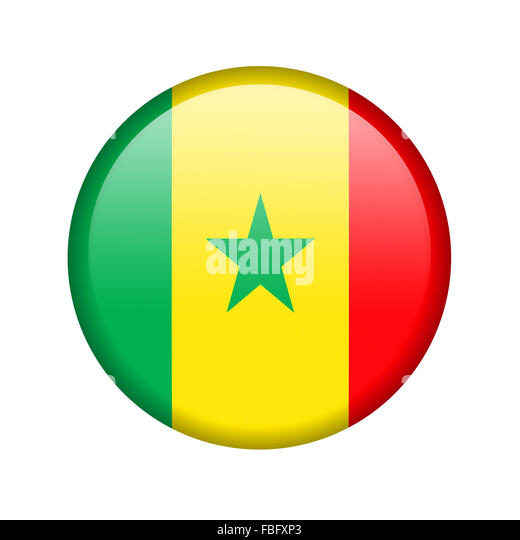 The Senegal flag - Stock Image