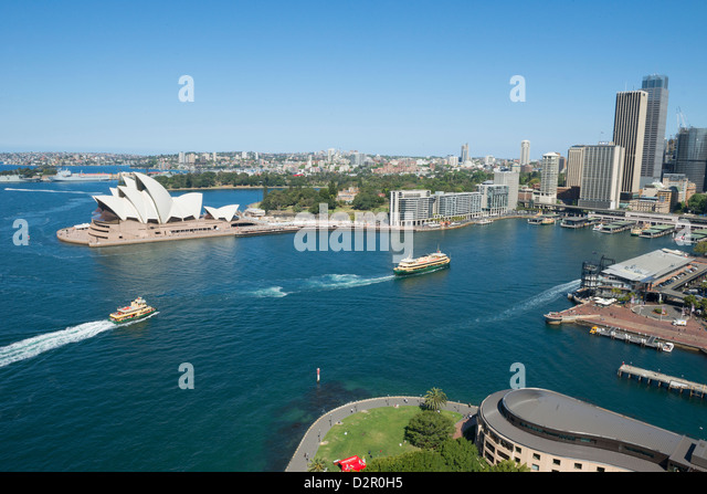 Circular Quay and Opera House, Sydney, New South Wales, Australia, Pacific - Stock Image