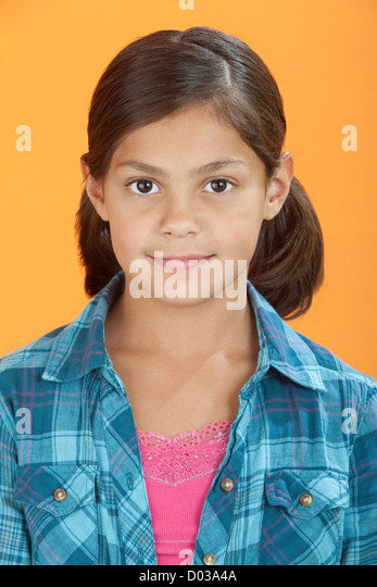 Pretty Little Hispanic Mexican Girl Stock Photos & Pretty