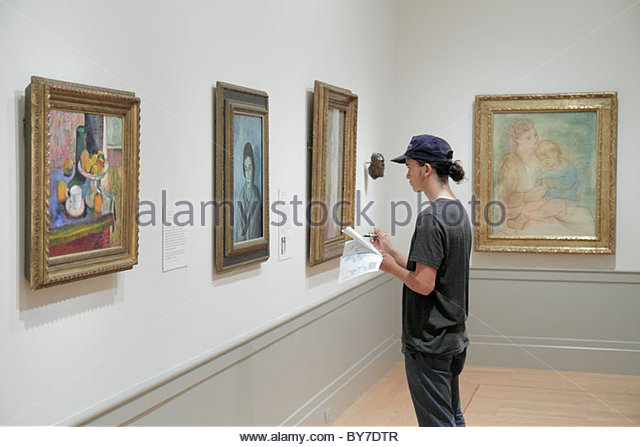 Baltimore Maryland Baltimore Museum of Art Wyman Park gallery exhibition Cone collection painting Picasso Mother - Stock Image