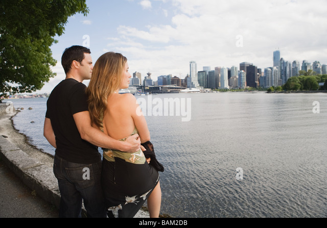 Couple at cole harbour vancouver - Stock Image