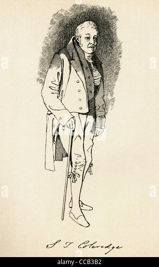Samuel Taylor Coleridge, 1772 ? 1834. English poet, Romantic, literary critic and philosopher. - Stock-Bilder