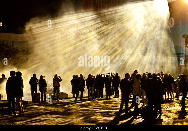 People at the Luminale, Frankfurt am Main, Germany - Stock Image