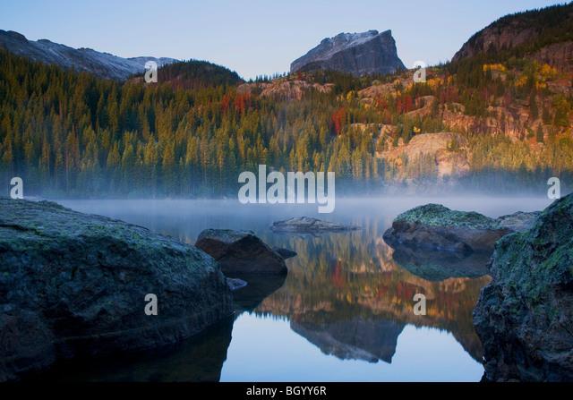 Bear Lake, Rocky Mountain National Park, Colorado. - Stock Image