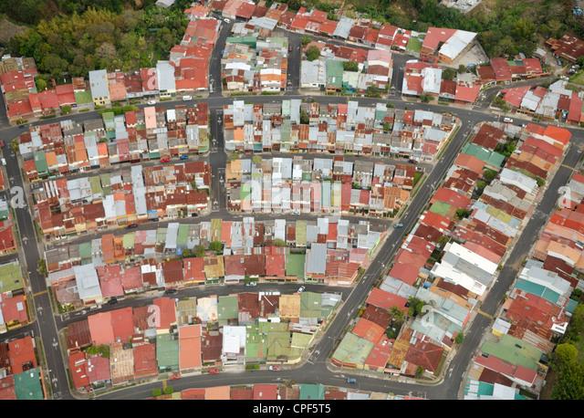 Rooftops, San Jose, Costa Rica - Stock Image